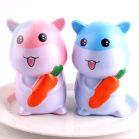 Wholesale funny shapes - Cartoon Relieve Stress Toys Lovely Simulation Hamster Shape Slow Rising Squishy For Kids Funny Squishies Fashion 12 5sq2 B