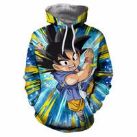Wholesale Jacket Hoodie Anime Character - Fashion Anime Hoodies Seven Dragon Ball Z Son Goku 3D Print Men Women Sweatshirt Long Sleeve Streetwear Pullover Casual Jacket DW64