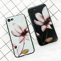 3d weiße blume telefon fällen großhandel-Für iPhone 6 Plus X 8 7 6 6 S 5 S Telefon Fall 3D Weiße Blume Malen Vintage Weiche TPU Zurück Abdeckung Fällen Coque