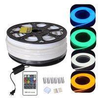 Wholesale led rope light for sale - 220V V Flex LED Neon Rope Light RGB m m m Indoor Outdoor for Holiday Party Valentine Decor Blue Yellow White by DHL