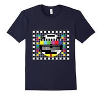 motif radio achat en gros de-Modèle de test radio shirt de télévision