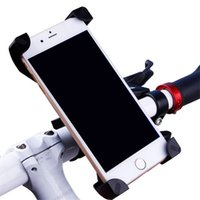 Wholesale color bike handlebars - Universal 360 Rotating Bicycle Bike Phone Holder Handlebar Clip Stand Mount Bracket For Smart Mobile Cellphone With Retail Package