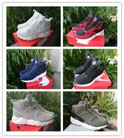 zapato de hombre único al por mayor-Air Men High Gang Zapatillas de running Mesh Unique Air Huarache 6 X Zapatos Zapatillas deportivas Rojo, Blanco, Verde Negro, azul Transpirable Huaraches Sp