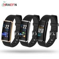 спортивные наручные часы оптовых-R9 IP67 Водонепроницаемый Smart Band Touch Красочный Экран Монитор Сердечного ритма Артериального Давления Умный Браслет часы для мужчин, женщин, спорта