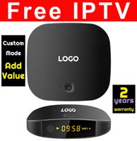 Wholesale Tv Channel Wholesale - 10pcs Custom Made T2 IPTV watching 600 live tv channels & thousands movies freely Fully-loaded KDplayer17.5 Android6.0 Quadcore 1gb 8gb