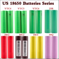 Wholesale vtc5 battery for sale - 100 top quality VTC4 mAh VTC5 mAh VTC6 mAh INR R mah Q HG2 mAh He2 HE4 mAh A Rechargable battery