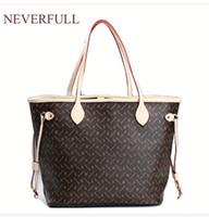 c30f7b55b2fc 2018 оптовая цена продажа pu кожа женщины модный бренд NEVERFULL мм / ГМ  плечо сумка открытый сумка