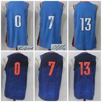 Wholesale Women Ca - 2018 New OKC city Basketball Jersey Men Women Youth,Signature Retro kids, 0 RW 7 CA 13 PG ,USA Dream Team all star