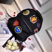 mochila laranja azul venda por atacado-Sugao rosa homens mochila 2018 novo estilo remendo de lona mochila de luxo mochila de marca famosa mochila de viagem para a escola