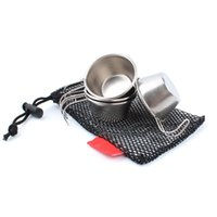 Wholesale tile accessories resale online - 300sets set mini ml Portable Stainless Steel Wine Cups Drinking Outdoor Whisky Vodka Bottle Mug Travel Barware Accessories