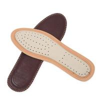 дышащий древесный уголь из бамбука оптовых-Дышащий бамбуковый уголь кожаная стелька мужская женская полный мат нескользящей коровьей дезодорант пот абсорбирующий теленка обуви pad