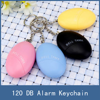 Wholesale New Personal Security Alarm Safety Keychain Women Anti Attack Self Defend Egg Shaped with Retail Box Multi Colors