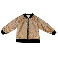 Wholesale cool baby clothes for sale - Gold Sequins Baby Girls Jacket Coats Children Outerwear Cool Baby Kids Clothing Coat Clothes Winter Autumn