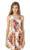 dresses shipped china 2018 - Newest fashion Women Casual Dress Plus Size Cheap China Dress 17 Designs Women Clothing Sleeveless Summe Dress Free Shipping L04