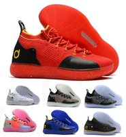 new styles 2c399 85dd8 Cheap Kd 11 Basketball Shoes Sneakers Men Women Youth Red Paranoid Persian  Violet PE Fly Kevin Durant 11s XI 2018 Athletic Sports Shoe