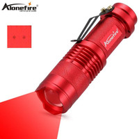 Wholesale led flashlights for hunting resale online - AloneFire SK68 Red Light Flashlight Red Hunting Light Tactical Flashlight Red Light Torch For Fishing Hunting Detector