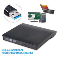Wholesale Usb Dvd Slim - Slim External USB 3.0 DVD RW CD Writer Drive Burner Recorder Reader Player for Laptop Desktop Netbook Notebook Computer PC