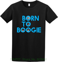 ingrosso cortocircuito nero-Maglietta da donna T-shirt da uomo girocollo in cotone nero a manica corta da Boogie
