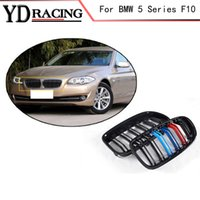 Wholesale 5 Series F10 ABS Mesh Gloss Auto Front Grill Grille For BMW F10 Grill i i i i i Sedan Door