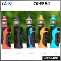 ingrosso batteria cb-Wismec CB-80 Kit con AMOR NS Pro Tank 2ml Top riempimento CB-80 Single 18650 Battery Mod 80W Firmware portatile aggiornabile 100% originale