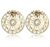 glänzender knopf großhandel-Fashion glänzende Sterne, Sternstecker, Ohrringe und Knöpfe vor und nach Ohrringen.