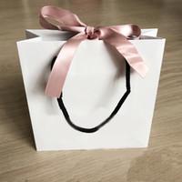 halsketten papier box großhandel-Mode Rosa Band Papiertüte Für Armband Und Halskette Box Set Frauen Ursprüngliche Pandora Schmuck Perle Charme Äußere Verpackung