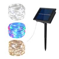 Wholesale Solar Led Strips Waterproof IP67 solar Power lamp Modes lighting Tape Ribbon Outdoor lighting decoration