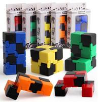 pvc würfel großhandel-Fidget Infinity Cube Fingerspitzen Toy Dekompressionsangst Toy Novelty und Gag Work Class oder Home Entertainment Multicolor-Auswahl Magic A450