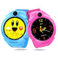 часы приложения оптовых-Q610 Kid Smartwatch w камеры базовое расположение сенсорный экран ребенок наручные группа приложение SOS анти-потерянный монитор детские Brecelet смарт-часы