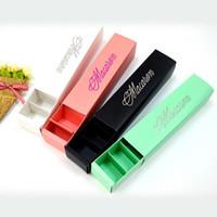 pasteles taza púrpura al por mayor-Macaron packaging dulces de boda favorece regalo Láser cajas de papel 6 rejillas Chocolates caja / caja de galletas