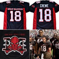 Wholesale american meaning - The Longest Yard Movie Jersey EJ Paul Crewe #18 American Football Jersey Mean Machine 100% Stitched Retro Jerseys Black