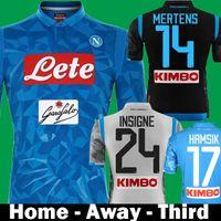 5773aaa355fb 2018 2019 Napoli SSC Home INSIGNE HAMSIK Soccer Jerseys 18 19 Naples Third  Away Black camisetas MERTENS Italia Calcio MAGLIA Football Shirt