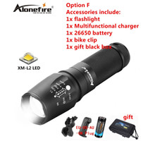 Wholesale led flashlight long range - AloneFire X800 XM-L2 CREE led torch Zoomable led light lamp powerful Long-range lighting torch .for 3AAA or 18650 ro 26650 battery