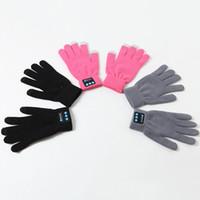 Wholesale smart phone gloves wholesale - Party Favor Wireless Bluetooth Gloves Women Men Winter Touch Screen Knit Gloves Mobile Phone Wireless Smart Headset Speaker WX-G06