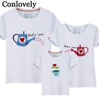 roupas para filho venda por atacado-Família Combinando Roupas Verão T-Shirt Mãe e Filho Combinando Roupas Chaleira Padrão Pai Filha Camiseta