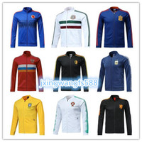Wholesale russia soccer - 2018 France tracksuit Soccer jacket 18 19 Mexico Belgium Russia COLOMBIA PORTUGAL Argentina sportswear Sweater Maillot football jacket