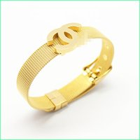 Wholesale C Brand Designer Bracelet For Women Men s bracelets High quality Titanium Steel Material With Gold Silver Rose gold Color Adjustable Bangle