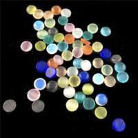 botella encantos colores al por mayor-5 Colores 3g / bottle Glass Colorful AB Taladros de Forma Redonda Decoración de DIY Nail Art Manicure Charm Glass 3D Nail Art Decorations