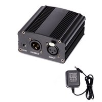 Wholesale 48v dc power supplies for sale - Group buy V DC Phantom Power Supply For Condenser Computer Vocal Recording Microphone Studio Broadcasting