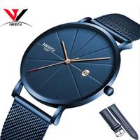 reloj de lujo hombres delgados al por mayor-Reloj NIBOSI Mujeres y Hombres Reloj de Primeras Marcas de Lujo Famoso Vestido de Relojes de Moda Unisex Ultra Thin Reloj de pulsera Relojes Para Hombre