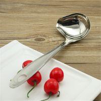 Wholesale Hot Pot Restaurant - Practical Hanging Colander Safety Wear Resistant Stainless Steel Soup Scoop For Restaurant Slanting Mouth Design Hot Pot Spoons New 4 8ps B