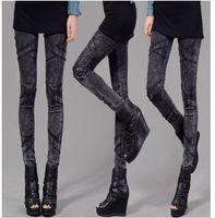 ingrosso gioielli in metallo nero-lady black jeans skinny leggings slim pencil cross stripe denim pantaloni punk rock metal bordatura gioielli rivetto cranio pantaloni