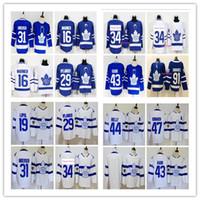 Wholesale maple leaf gold - 2018 Toronto Maple Leafs 91 John Tavares Hockey jersey 16 Mitch Marner 44 Morgan Rielly 31 Frederik Andersen 29 William Nylander Jersey