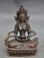 ingrosso statua di kwan-Statua del Buddha del Vecchio Tibet Buddismo Joss Tara Kwan-yin Guanyin Statua del Buddha