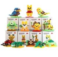 desenhos animados do bloco do loz venda por atacado-LOZ Diamante Bloco Set 8.5 CM Box Bear Animal Passarinho dos desenhos animados 3D Blocos de Construção de Presente Série Brinquedos Para As Crianças