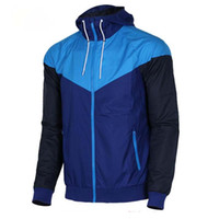 siyah ceket toptan satış-Ücretsiz kargo Erkekler Bahar Sonbahar Windrunner ceket Ince Ceket Ceket, Erkekler spor rüzgarlık ceket patlama Siyah modelleri çift clothin ...