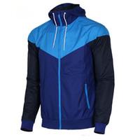homens casaco casual venda por atacado-Frete grátis homens primavera outono Windrunner jaqueta fina jaqueta casaco, homens esportes jaqueta blusão explosão modelos negros casal clothin homens
