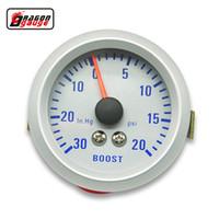 turbo-boost-lehren großhandel-Dragon gauge 52mm Turbo Ladedruckanzeige 20 ~ 30 PSI druck 0-30 INHG VACUUM GAUGE meter bunte leuchtende TURBO Mete