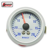 medidores de vacío al por mayor-Medidor de dragón 52mm Turbo Boost Gauge 20 ~ 30 PSI de presión 0-30 INHG MEDIDOR DE VACÍO VIRUTA Colorido luminoso TURBO Mete