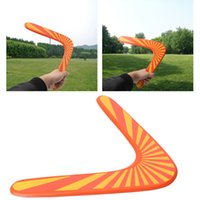 Wholesale Wooden Games Outdoor - New Fashion Throwback V Shaped Boomerang Wooden Frisbee Kids Toy Throw Catch Outdoor Game Sports Toys Outdoor Play Top Quality